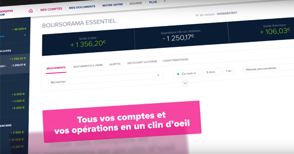 Nouvelle interface Boursorama Banque
