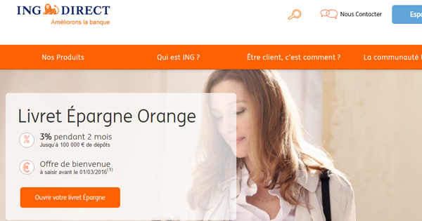 ING Direct Livret Epargne Orange