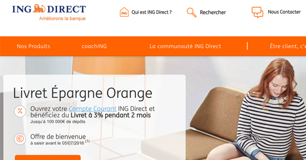 Livret Epargne Orange ING Direct
