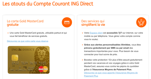 Compte courant ING