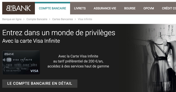 Carte Bancaire Visa Infinite Gratuite.Carte Visa Infinite Bforbank Les Conditions Attachees M2
