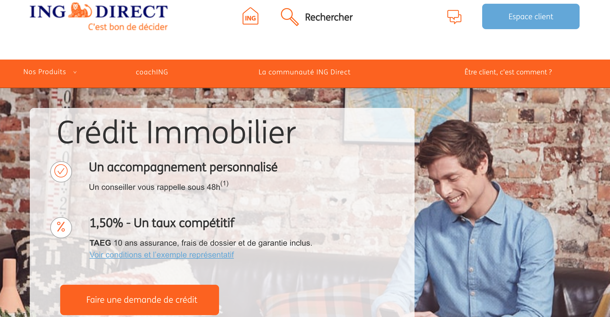 Credit immobilier ING Direct