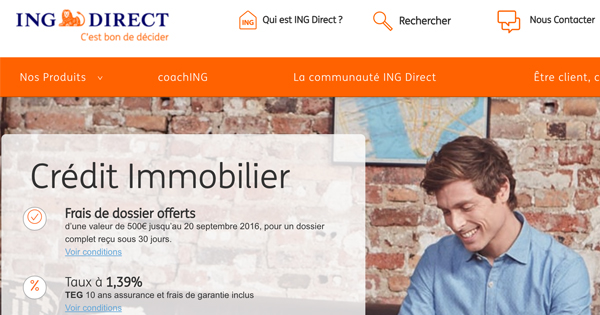 credit immobilier ing