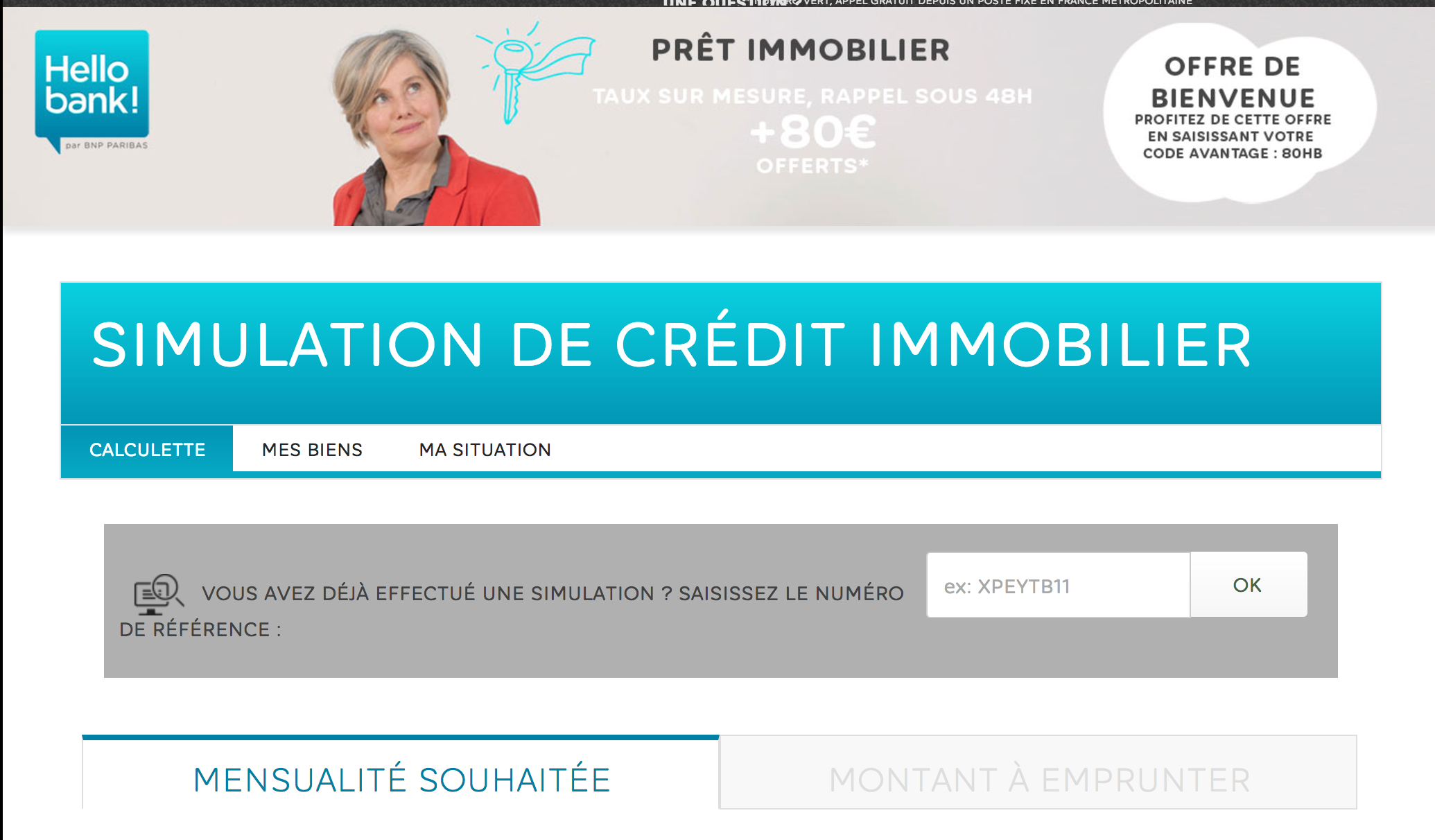credit immobilier Hello Bank
