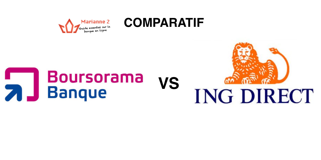 Comparatif Boursorama Banque ING Direct
