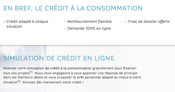 Crédit consommation Hello Bank!