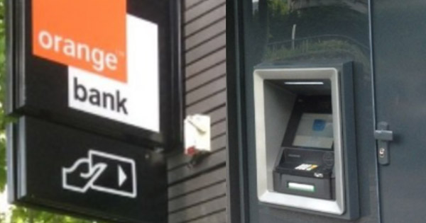 Distributeur orange Bank