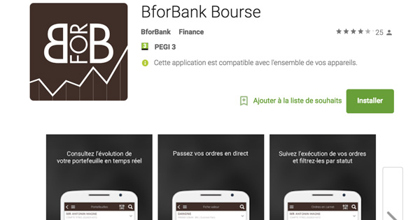 BforBank Bourse application mobile