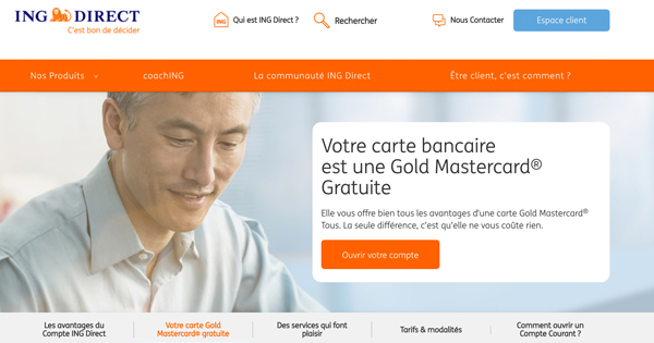 Carte bancaire ING Direct gratuite