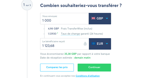 fonctionnement Transferwise