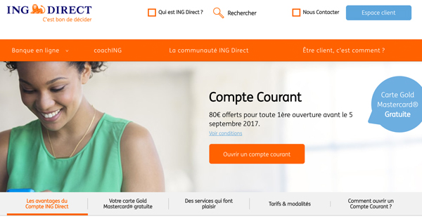 ING Direct sans condition