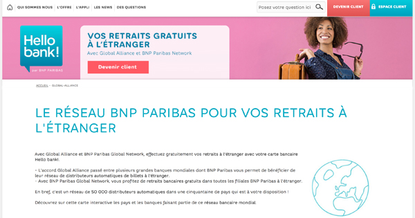 hellobank retraits etranger