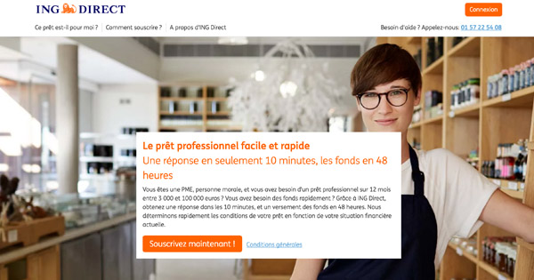 ing direct pret professionnel