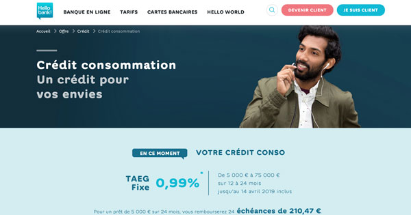 Hellobank crédit conso